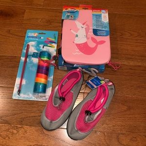 Other - Girls Summer Bundle! Shoes, Ribbon and Swim steps!